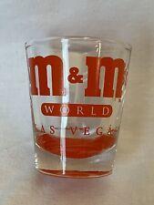 M & M's Vintage World Las Vegas Shot Glass Red Candy