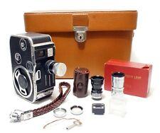 Paillard Bolex C8 Cine Camera + Case + Lenses + Accessories | Excellent.