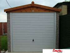 PREFAB GARAGES & BUILDINGS Apex Spar Pebbledash Finish 8ft6in(W) x 16ft3in(L)