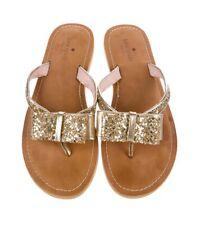 KATE SPADE NEW YORK Glitter Slide Sandals, Gold, Size 38 EU / 8 US, (was $320)