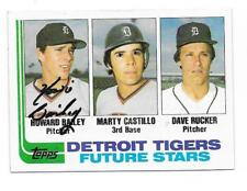 HOWARD BAILEY 1982 TOPPS AUTOGRAPHED SIGNED # 261 TIGERS