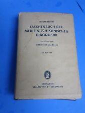 TASCHENBUCH DER MEDIZINISCH-KLINISCHEN DIAGNOSTIKM 1962, MULLER-SEIFERT