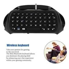 Bluetooth Wireless Keyboard Chatpad Controller Gamepad Black for PlayStation Ps4