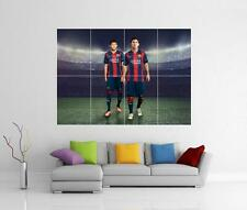 Lionel messi et neymar jr Barcelone Barca GIANT WALL ART PRINT POSTER PHOTO XL