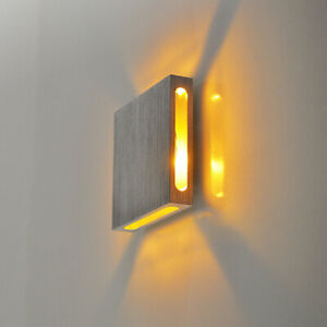 Modern Up Down Outdoor Light LED Hallway Proch Wall Sconce Lamp in Square Shape