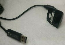 Xbox 360 Battery Charging Cable Wire USB Charger Wireless Gamepad Official Black