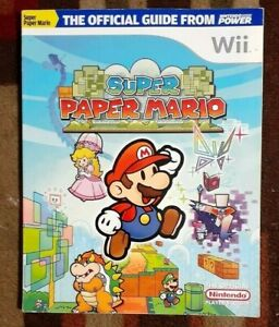 Super Paper Mario WII Nintendo Power Official Strategy Game Guide Free Shipping