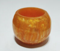 Vintage Gold Lava Marbled Catalin Candle Holder