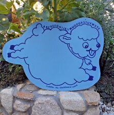 "Vintage 1950s Child's Die Cut Chalkboard ""Cuddles the Chalkboard Lamb"" 19"" x 27"""