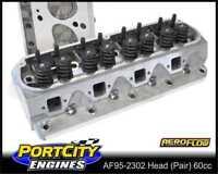 Aeroflow Alloy Cylinder Heads 60cc Complete Ford V8 289 302 351W AF95-2302