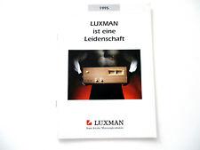 Luxman Katalog Prospekt 1995 Hifi Audio Technik Broschüre HI-FI Komponenten