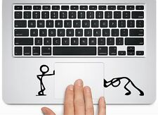 Pushing & Standing Silhouette f Macbook Trackpad laptop Chromebook Decal Sticker