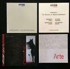 4 cataloghi arte - Franco La Spada - Remo Supranii - Auguri ad Arte 2007 2008 -