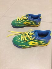 Soccer Shoes By Lotto , Junior Size 30/ 11,5 In Yellow/ Blue/ Green