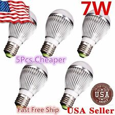 5x Super Bright High Power 7W 12V E27 Home LED Bulb RV Lights - E26 M