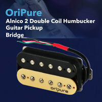 OriPure Handgefertigt Alnico 2 Double Coil Humbucker Gitarre Brücke Pickup Zebra