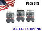 1-8S Lipo Battery Tester/Low Voltage Buzzer Alarm (Pack of 3)