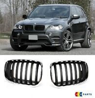 NEW BMW X5 SERIES E70 2006 - 2013 FRONT UPPER KIDNEY GRILL PAIR SET LEFT RIGHT