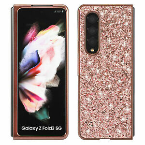 For Samsung Galaxy Z Fold 3 5G Luxury Shockproof Bling Glitter Phone Case Cover