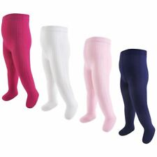 Hudson Baby Girl Cable Knit Tights, 4-Pack, Navy and Pink