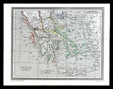 1835 Monin Fremin Map Ancient Greece Athens Sparta Corinth Cyclades Aegean Sea