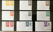 France 2018 Marianne l'Engagée Salon d'Automne série 9 timbres non dentelé Neuf