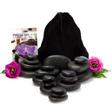 Purovi Spa Hot Stone Massage Set - 20 Natursteine im Samtbeutel Sehr Gut