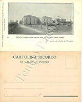 Cartolina Saluti da Pompei, case operaie - Napoli