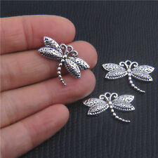 Free 20Pcs Vintage Alloy Dragonfly Shaped Pendants Charms Crafts Findings 16mm