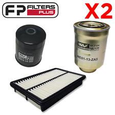 2 x WCO222 + WA5257 + WCF104 Wesfil Oil Air Fuel Mazda CX-5 2.2L Diesel 2012 On