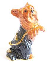 Yorkshire Terrier or Silky Terrier Dog Trinket Box