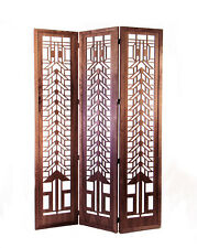 Tree of Life FLOOR SCREEN Frank Lloyd Wright ROOM DIVIDER Etched Wood 52 x 74