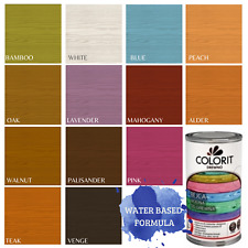 Water Based Stain Wood Dye Odour Free Interior Non-Drip Woodstain Fast Dry Paint