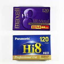 Hi8 Camcorder Video Tapes Lot of 2 Maxwell Panasonic