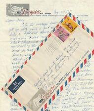 SINGAPORE Rare Airmail Letterhead NEGARA HOTEL Tied 35c.Sent Philippines 1971