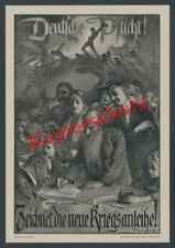 Ludwig Synthe German Duty! War Bond Home Front 1. World War 1917