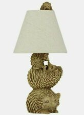 Forest Hedgehog Family Table Lamp 39cm Home Decor NEW Christmas Gift