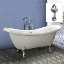 Freestanding Bath Tub Double Ended Roll Top SLIPPER Bathtub White 1780mm No.6806