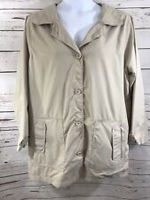 Women's KC Collections Sz 1x Tan Lined With Pockets Thin Raincoat