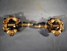 SHIMANO DEORE XT PD-M770 DUAL SIDED DUAL ENTRY SPD MOUNTAIN BIKE MTB PEDALS NICE