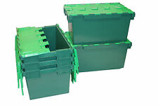 5 LARGE New Plastic Storage Crates Box Container 80L