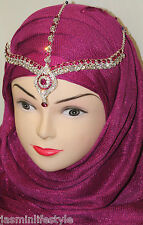 Strass Schön Hijab Matha Patti Neu Tikka Braut Ball Kostüm HeadJewellery