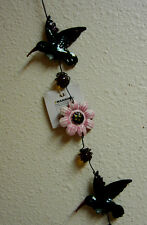 Spinning Wind Dangling Hummingbird Hanging Patio Yard Art Decoration