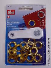 PRYM Ösen mit Scheiben Öse 11mm gold 541371