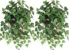 Two Artificial 23 inch Oxford Ivy Bush Green Plant Arrangement Flower Floral