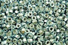 (500) M8-1.25 Metric Nylock Hex Nut 8mm Zinc Locking Nyloc