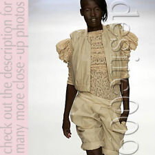RARE PREEN Jesus Mary Cross Chain Lace Stretchy Top!S-M