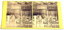 STEREOFOTO STEREOFOTOGRAFIA 1880 ca. QUEEN MARY'S BEDROOM, PALACE OF HOLYROOD