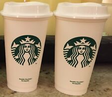 "Starbucks Reusable 16 Oz Coffee, Tea Cup With Lid ""U Get 2"" Classic Green Siren"