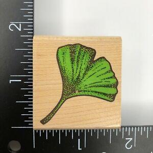 Rubber Stampede Ginko Leaf Wood Mounted Rubber Stamp 269C